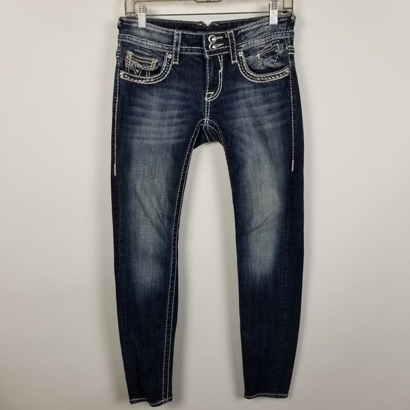 Vigoss Denim - Vigoss The Chelsea Super Skinny Dark Wash 26x29